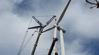 풍력발전기 해체작업