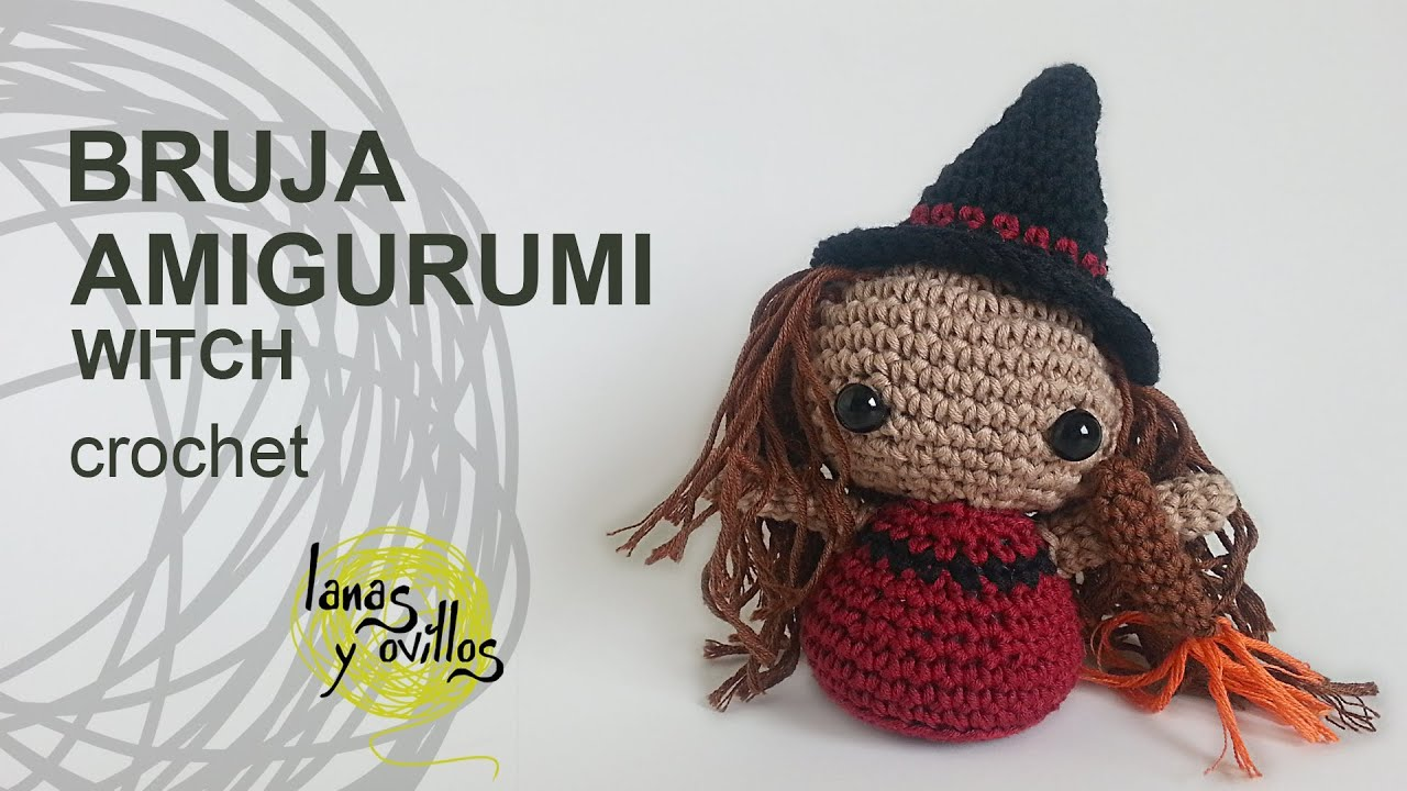 Tutorial Amigurumi Bruja Witch - YouTube