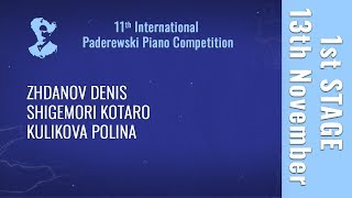 13th November - 1st stage / Part 3 - Paderewski Piano Competition