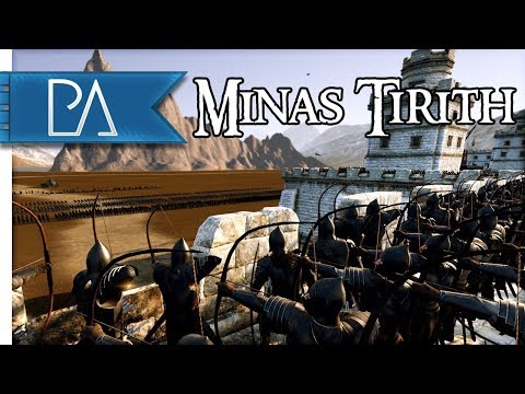 EPIC SIEGE OF MINAS TIRITH - Lord of The Rings - Total War: Rise of Mordor Mod Gameplay
