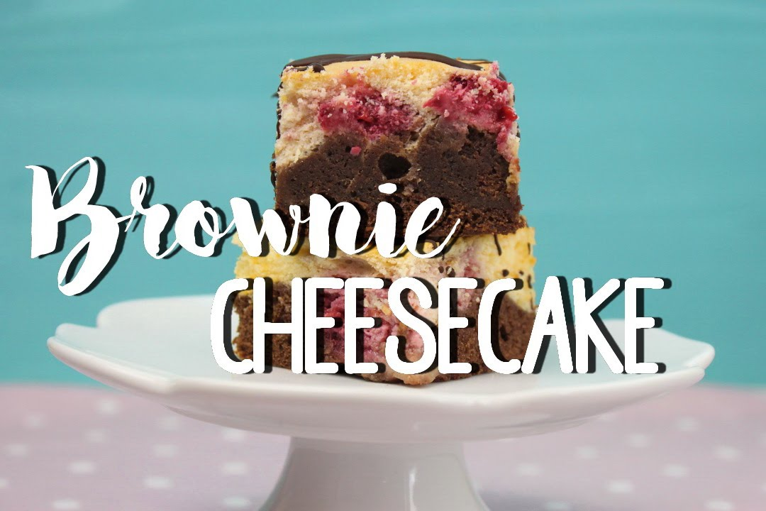 brownie cheesecake rezept brownie kuchen k sekuchen mit himbeeren backen youtube. Black Bedroom Furniture Sets. Home Design Ideas