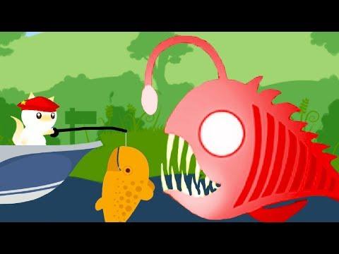 КОТЕНОК РЫБОЛОВ #2 мультик игра про маленького котика, который ловит рыбку #пурумчата