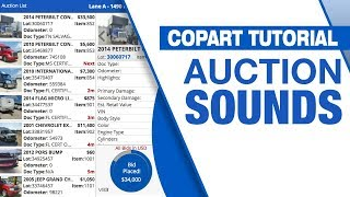 Copart Tutorial: Auction Sounds
