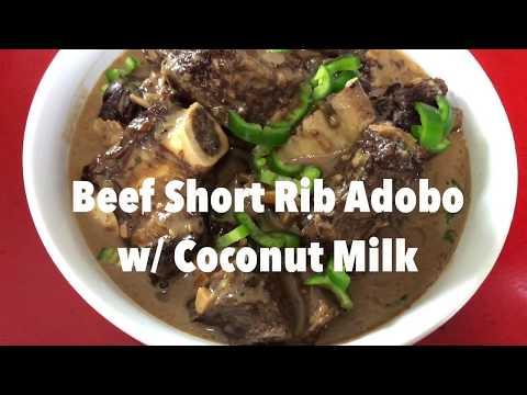 Beef Short Rib Adobo w/ Coconut Milk