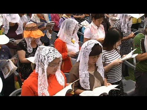 پاپ فرانسیس مراسم عشاء ربانی را در کره جنوبی به جا آورد