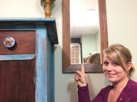 Build a simple wood mirror frame!