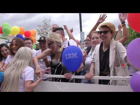 Gay Pride and Parade in Prague, Czech Republic 2017 (Praha, Česka Republika)