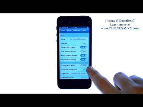 Apple iPhone 5 iOS6 -  How to Automatically BCC Myself When Sending Email