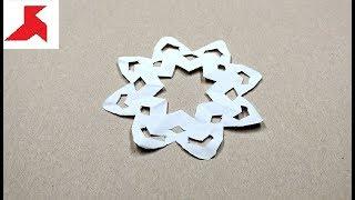 DIY ❄️ - Как сделать СНЕЖИНКУ из бумаги а4 своими руками?