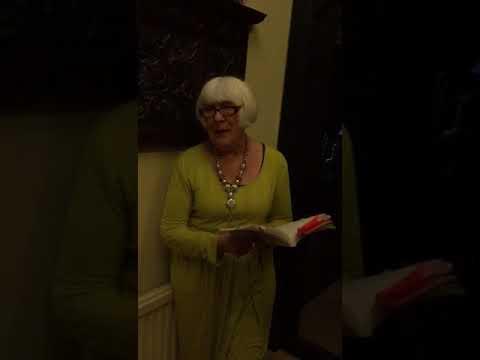"Audrey reads ""Warning"" by Jenny Joseph"