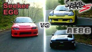[ENG CC] Seeker EG6 vs. Bandoe AE86 vs. Spirits MRS Touge 200 HV81