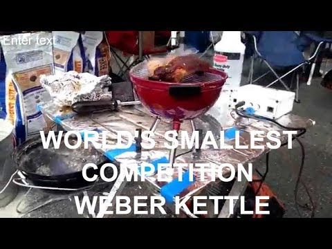 World's Smallest Competition Weber Kettle Smoker 6inch Harry Soo SlapYoDaddyBBQ.com grilled barbeque