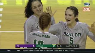 TCU at Baylor Volleyball Highlights