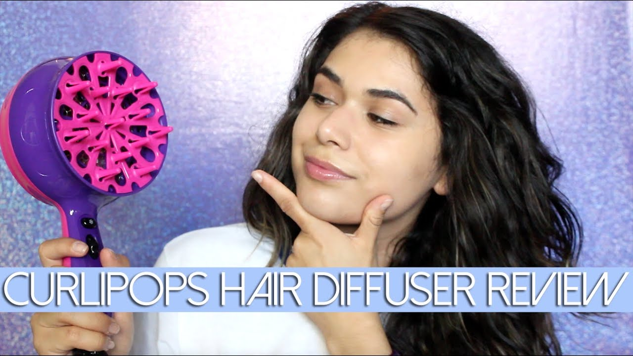 curlipops hair diffuser demo & review | tame my mane - youtube