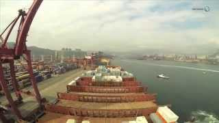 Elly Maersk Container Ship : Working around the world time-lapse