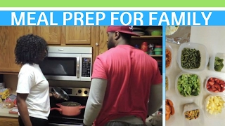 MEAL PREP FAMILY OF 4 | Working Mom || Married Black Family Vlogs