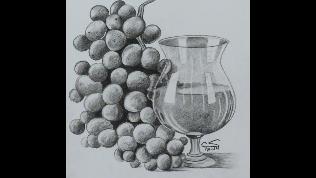 Pencil Drawing | How to Draw Pencil shading | Still life ...
