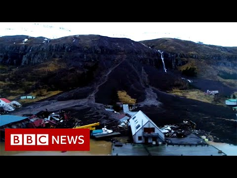 Town in Iceland evacuated after mudslide hits - BBC News