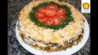 №1 на летнем столе! Кабачковый торт с помидорами.Вкуснейший летний торт из кабачков!