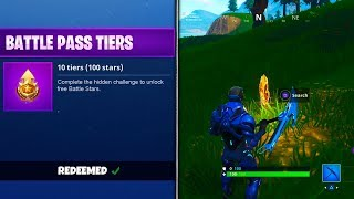 FREE BATTLE STAR LOCATIONS in Fortnite! - Fortnite Battle Royale Season 4 Week 2 HIDDEN Battle Stars