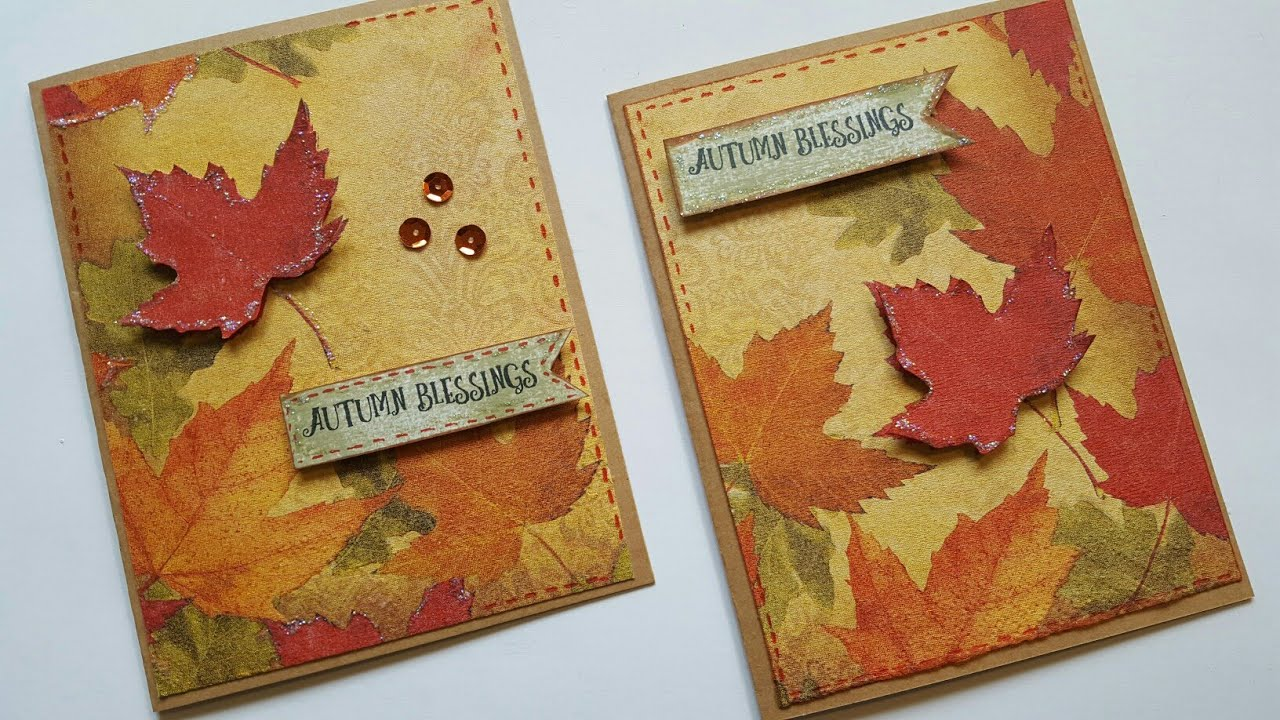 card craft ideas free diy napkin cards crafts for fall season cardmaking 3503