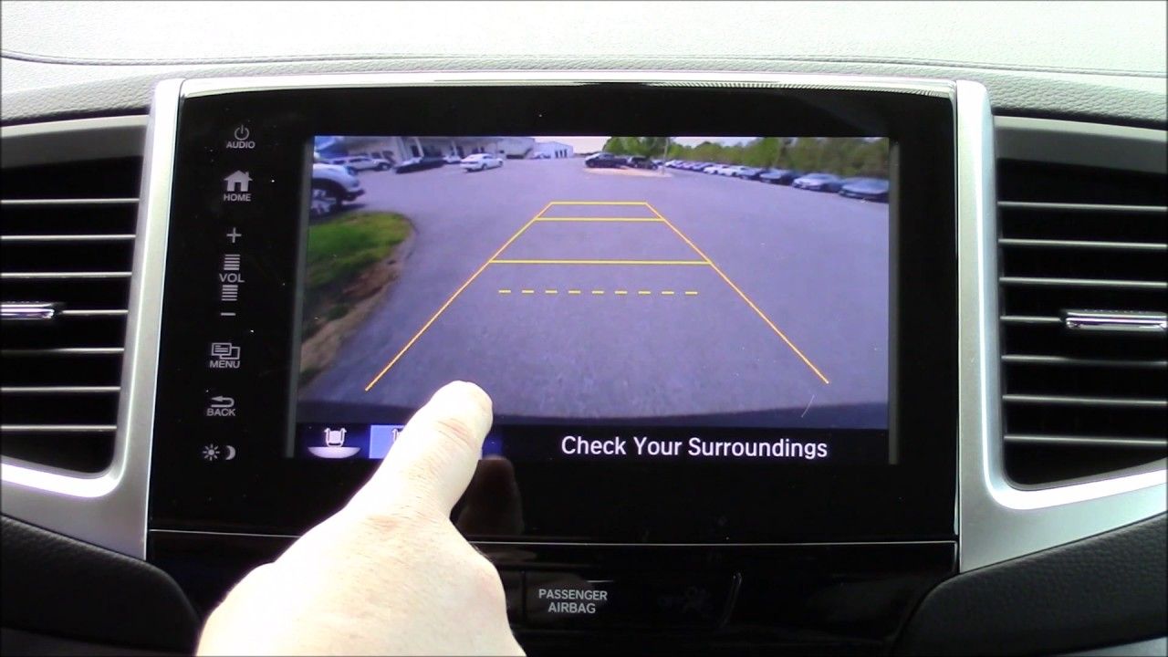 honda pilot rearview camera settings youtube