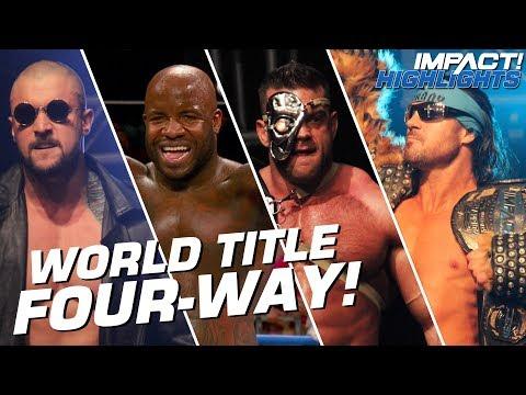Johnny IMPACT vs Brian Cage vs Killer Kross vs Moose: World Title   IMPACT! Highlights Feb 15, 2019