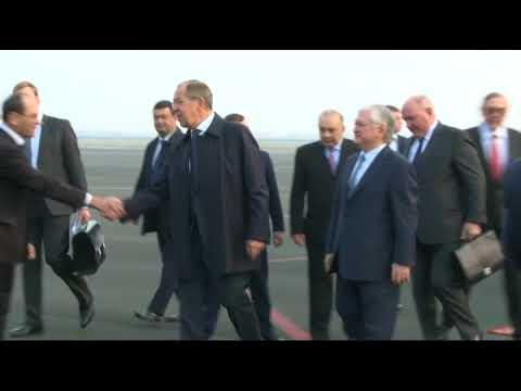 Прибытие С.Лаврова с визитом в Ереван