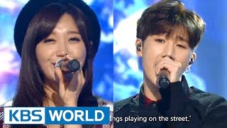 Kim SeongKyu (김성규) & Jeong EunJi (정은지) - Happy Together [Music Bank Christmas Special / 2015.12.25]