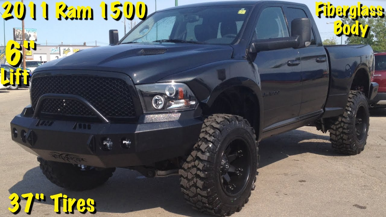 Custom Lifted 2011 Ram Sport 1500 6 Lift 37 Tires 20x12 Rims