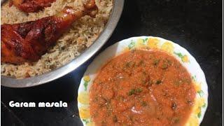 Satha / Tomato Carrot Chutney / Sauce For Biriyani, Mandhi Rice, Kabsa