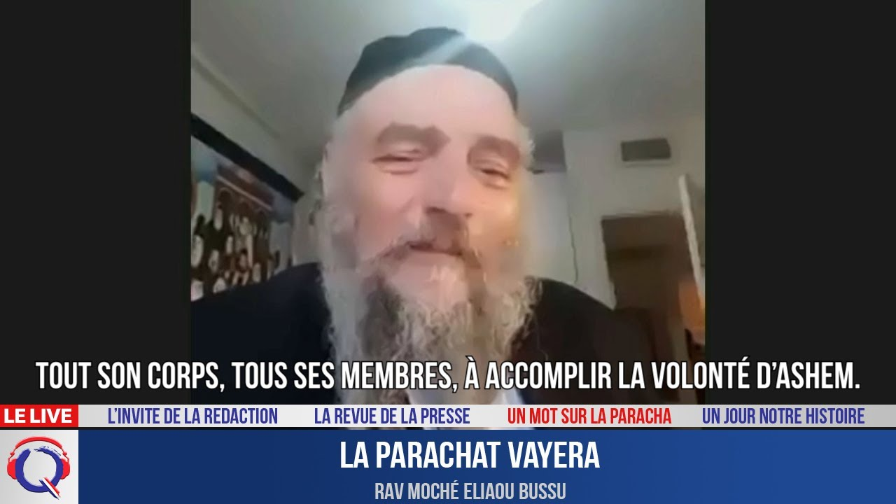 Le mot de la paracha du 22 octobre 2021 - Parachat Vayera
