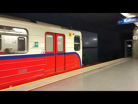 Warsaw metro new but old train