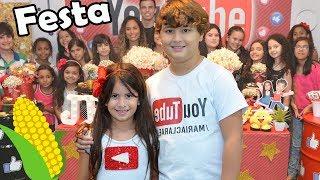 FESTA  COM 1 MILHÃO DE AMIGOS! Especial 1 🌽 da Maria Clara e JP