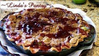 ~fresh Strawberry Rhubarb Pie With Bloopers & Linda's Pantry~