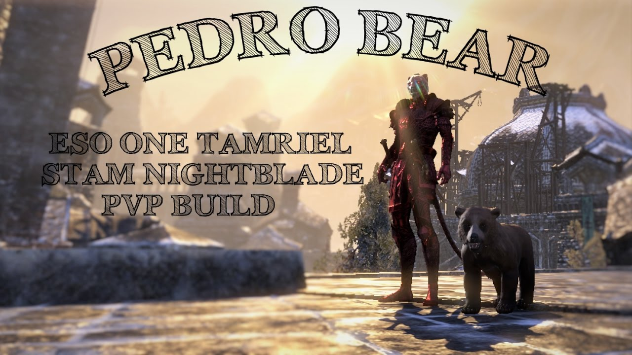 Stamina Nightblade Pvp Build Pedro Bear