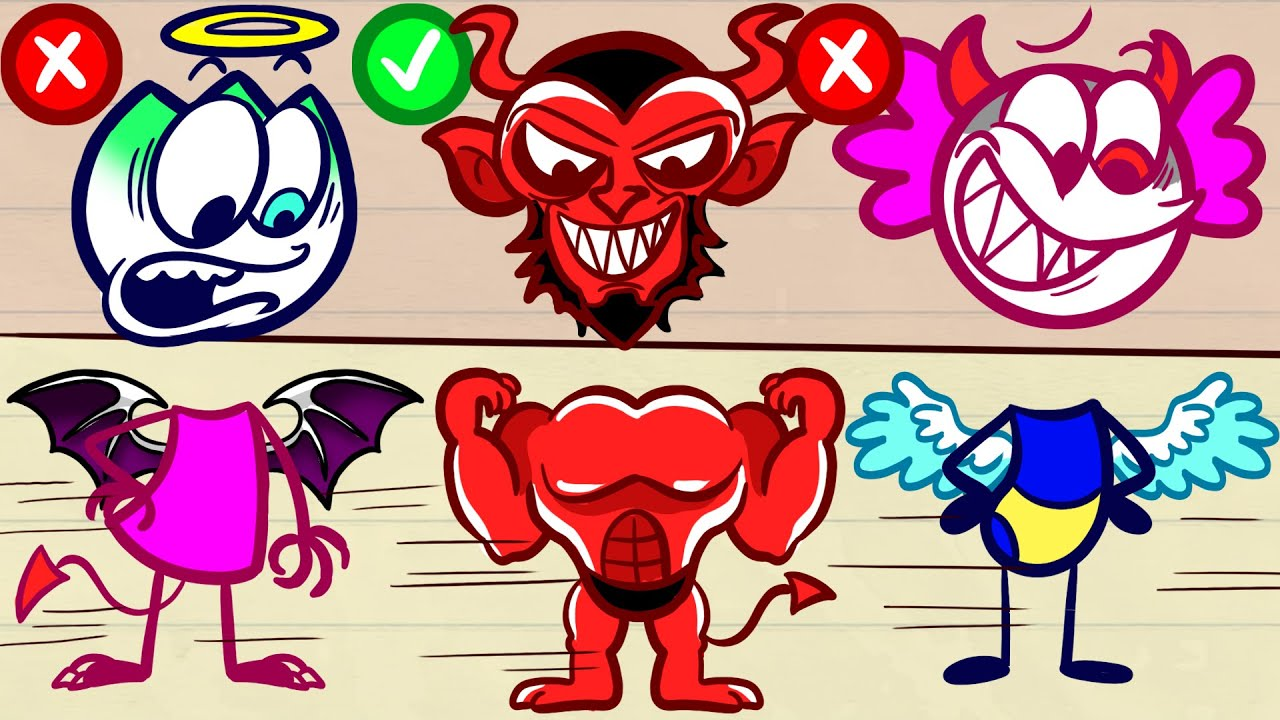 Good And Evil Rules Max's Life - HELLELUJAH Pencilanimation Funny Animated Film