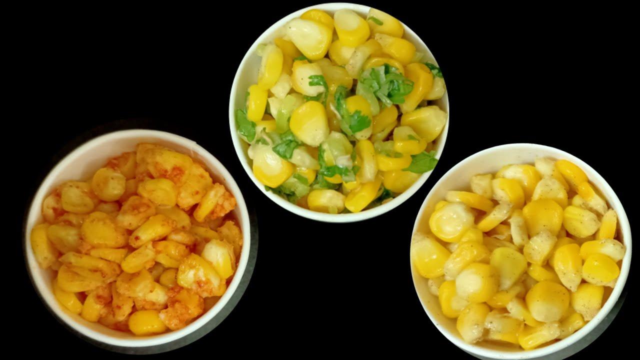 Download American Corn 3 ways - Cheese Chilli,,Masala & Butter Sweet Corn Recipe