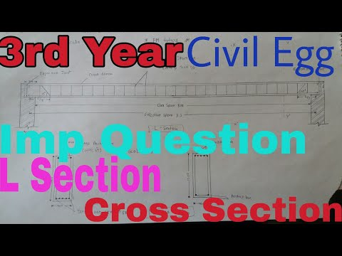 Civil Engg 3rd Year L section Cross section important qustion
