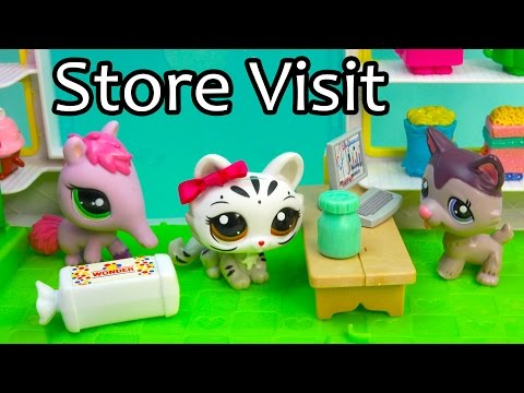 LPS Medicine Store Visit - Mommies Part 45 Littlest Pet Shop Series Video Movie LPS Mom Babies