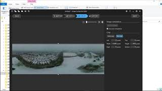 How to make a 360-degree photo using Image Composite Editor (ICE) with a drone or tripod.