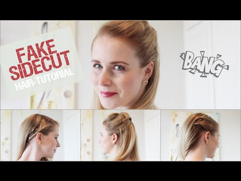 fake sidecut 3 einfache und schnelle frisuren sleek look hair tutorial youtube. Black Bedroom Furniture Sets. Home Design Ideas