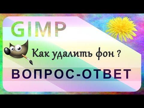 Вопрос: Как удалить фон с помощью Инструмента выделения контура GIMP?