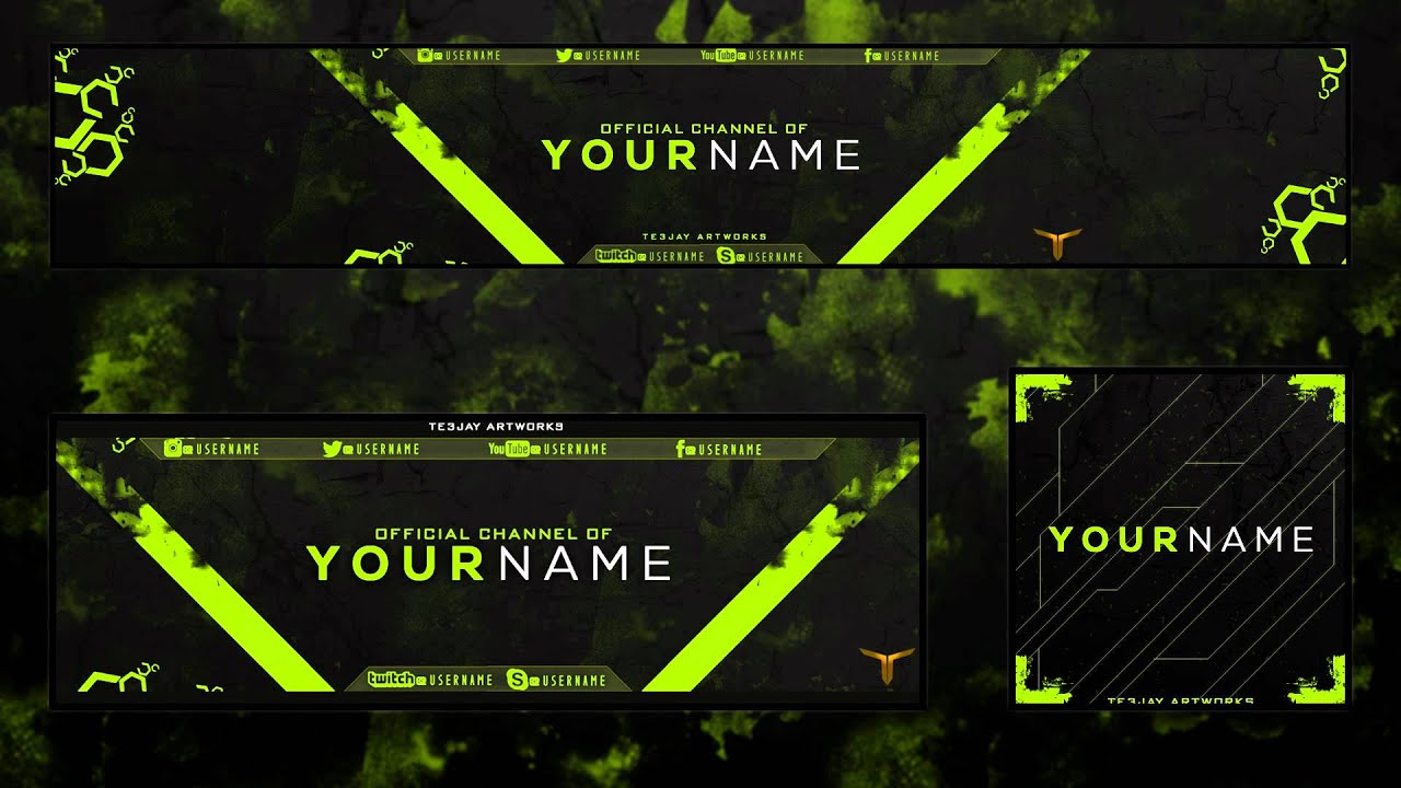 New Free Abstract Youtube Banner Header And Avatar