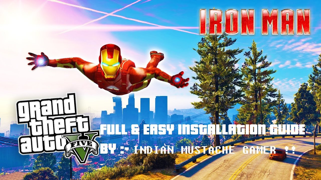 How to install ironman mod GTA V - full easy guide !!