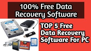 Top 5 Best Data Recovery Software For Free| 100% Free Recovery Software