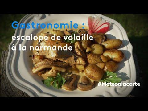 gastronomie-:-escalope-de-volaille-à-la-normande