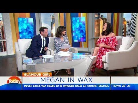Megan Gale unveils wax figure lookalike