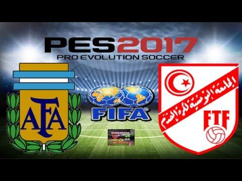 PS4 PES 2017 Gameplay Classic Argentina vs Classic Tunisia 1978 HD