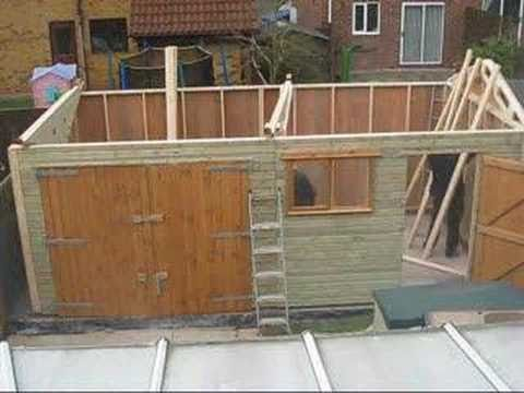 Build Your Own Garage >> Timber Garage Assembly Youtube